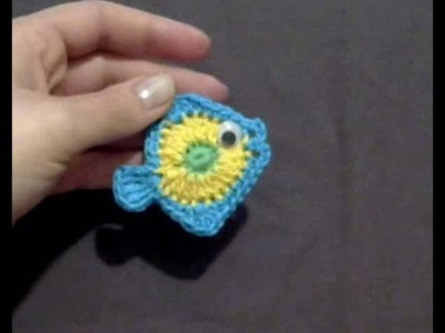 Crochet Fish Applique (english tutorial)