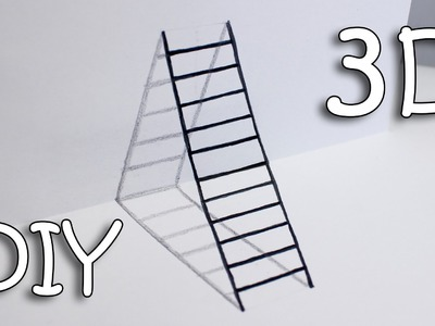 DIY 3D Ladder - How To Draw Ladder Optical Illusion