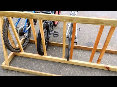 DIY Bike Rack Made of Wood