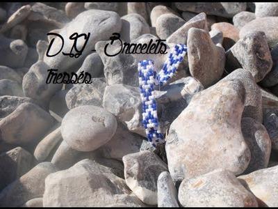 { D.I.Y. } - Bracelets tressés. Beads Bracelet (tutorial)