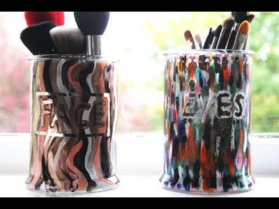 DIY Brush Holder: Candle Jar