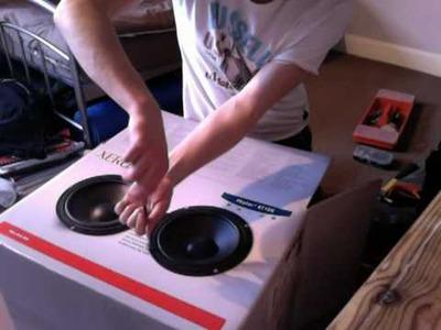 DIY Cardboard Box Subwoofer