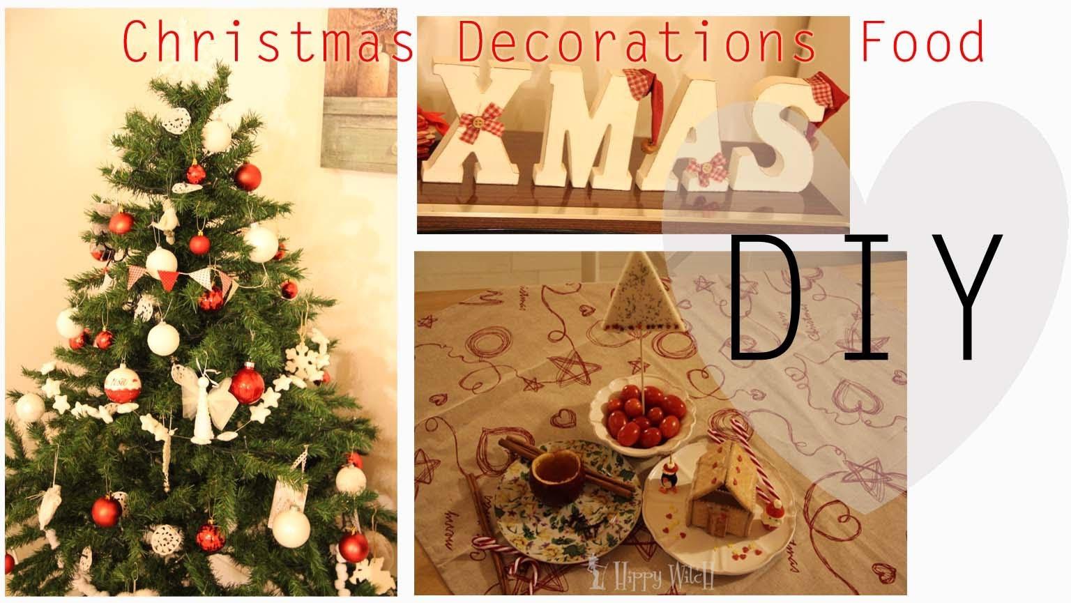 DIY:Decoriamo il nostro menu di Natale- Christmas Decorations Food -