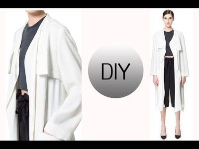 DIY FALL ESSENTIAL.  HOW TO MAKE A TRENCH COAT
