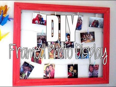 DIY: Framed Photo Display
