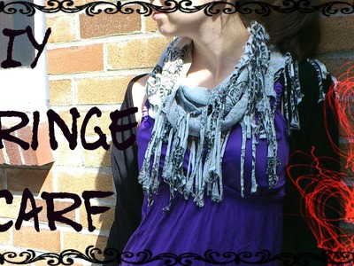 DIY Fringe Infinity Scarf (No Sewing!) | Make a Scarf from an Old Top or T-Shirt