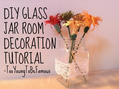 DIY glass jar room decoration tutorial❤️