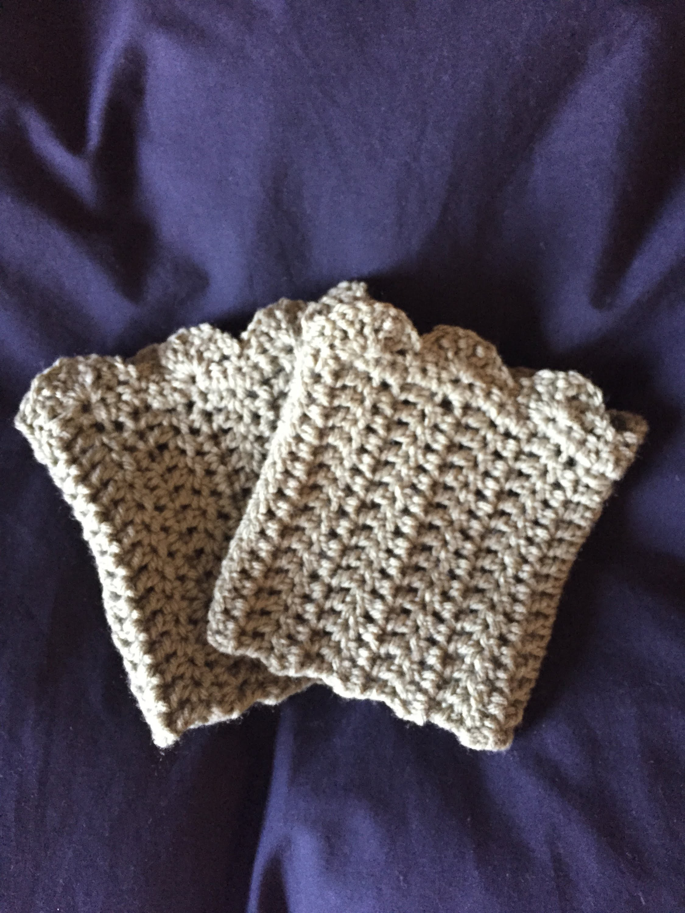 DIY how to crochet boot cuffs