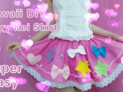 DIY - How to Make a Cute Fairy Kei Skirt(Easy)