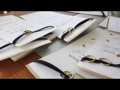DIY Inspiration | Wedding Invitations ♡ Simple & Elegant with Gold, White & Black