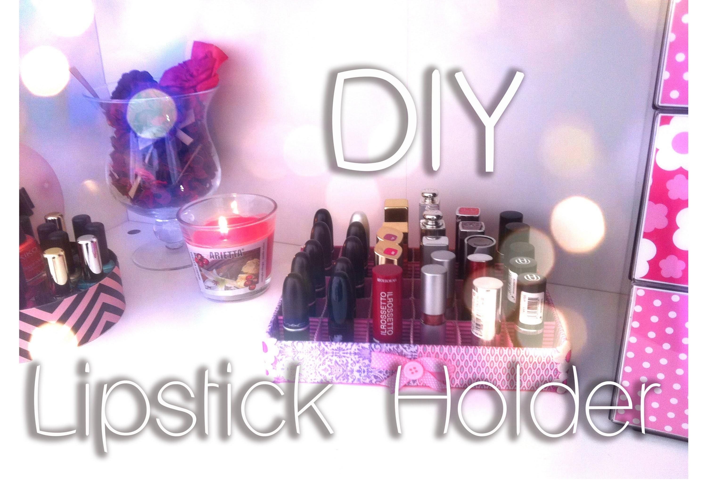DIY - Lipstick holder Shabby Chic - Tutorial