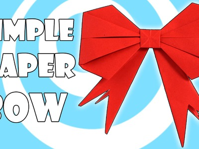 DIY: Simple Origami Gift Bow. Ribbon Instructions