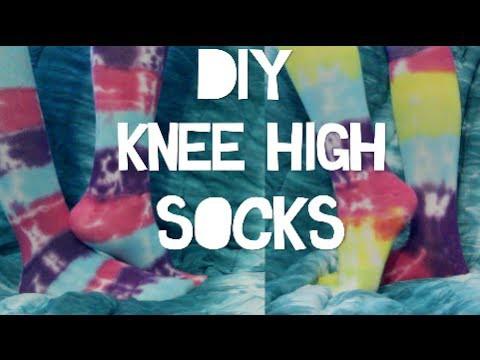 DIY Tie Dye Knee High Socks