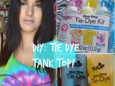 DIY Tie-Dye Tank Top | How To | Tutorial | Nadii