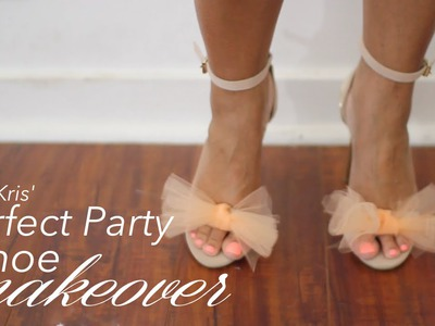 {DIY} Tulle Bow Party Shoes: The Perfect Miss Kris SHOEtorial