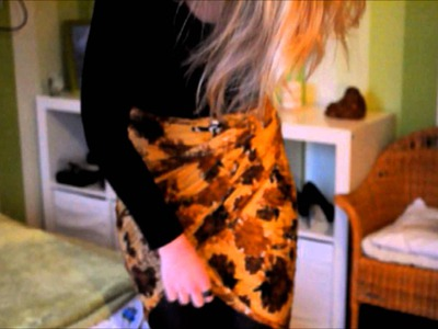 DIY. Tutorial 'from scarf to skirt'