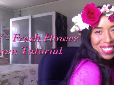 DIY - Tutorial on How to Make a Fresh Flower Crown by Evelyn Madera from PoshScene.com