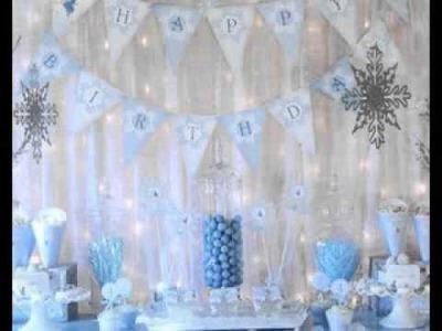 DIY Winter wonderland party decorating ideas