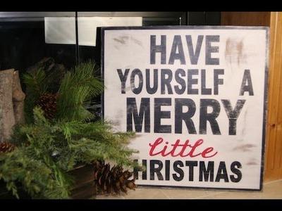 DIY: Wooden Christmas Sign   ShowMeCute