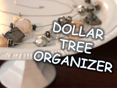 DOLLAR TREE DIY:  Pedestal Organizer