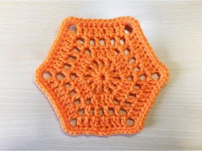 六角モチーフ1 鉤針編みモチーフの編み方 How to Crochet  Motif
