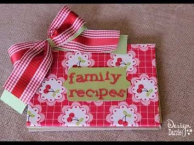 Easy DIY Scrapbook recipe book ideas