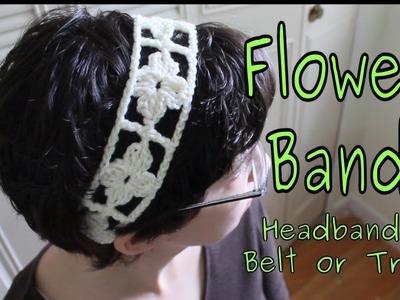 Flower Band (Crochet Tutorial)