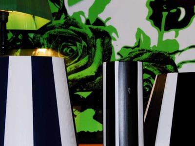 Gör din egen retrolampa plastband 50-tal string - Diy lampshade retro 50s Tutorial