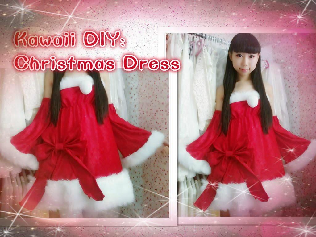 Holiday DIY: How to Make Cute Santa Christmas Dress Inspired by luka megurine