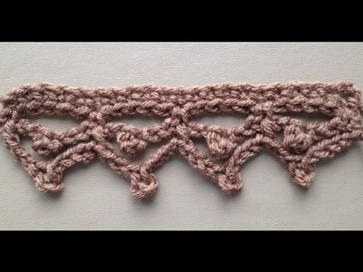 How to Crochet the Edge.Border Stitch Pattern #1 by ThePatterfamily