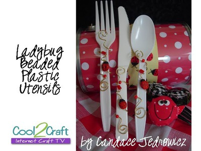 How to Decorate Plastic Utensils with Beads and Wire by Candace Jedrowicz