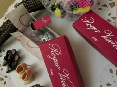 How to DIY Miniature Shoe Box With Warranty Card?自製迷你鞋盒
