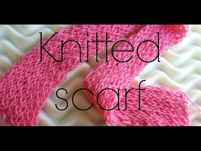 How to knit a scarf - Talented girl