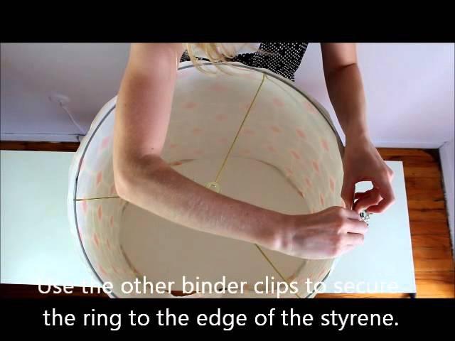 How to make a lampshade using a DIY lampshade kit