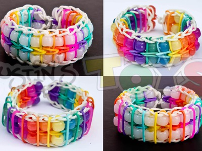 How To Make a Reversible Pinstripe Double Ladder Color Changing Bead Bracelet