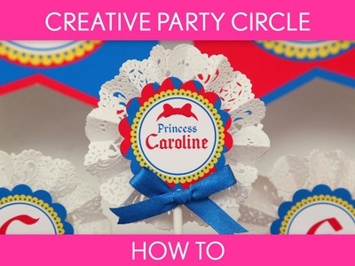 How to make : Creative Party Circle with Lace Paper Doilies ( Birthday Party ). B40