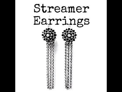 How to Make DIY Streamer Earrings with Rhinestone Chain