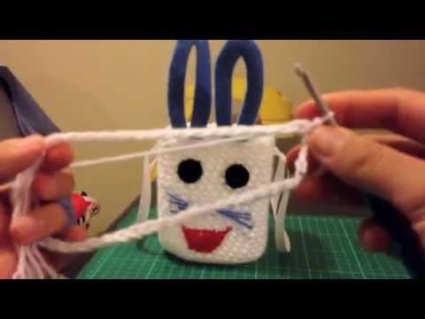 How to make easter egg basket. full. crochet