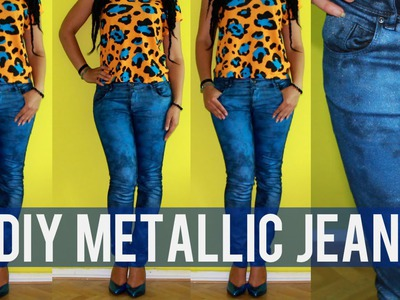 How To Make Metallic Jeans | Back To School DIY