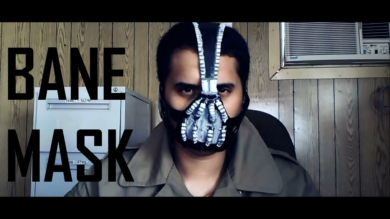 How to make your own Bane Mask Tutorial DIY