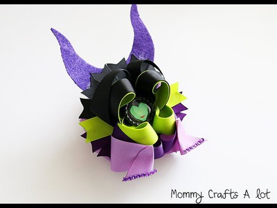 Inspired by Maleficent hairbow tutorial (How to make the Maleficent bow)