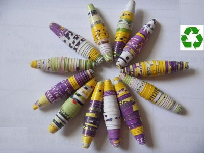 Kağıt boncuk nasıl yapılır?How to make paper bead?-TUTORIAL