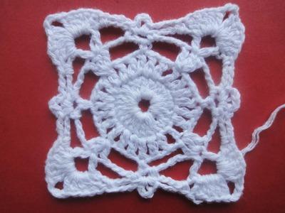 Квадратный мотив The square motif Crochet