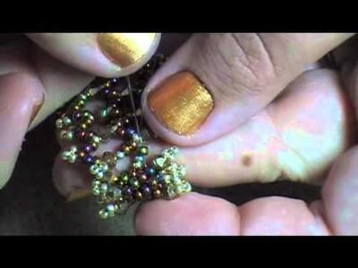 Lacy Spiky Bracelet Part 2 (Net Stitch)