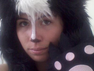 Last Minute DIY Skunk Costume