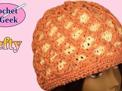 Left Hand crochet Knot Stitch Hat Cover Crochet Geek
