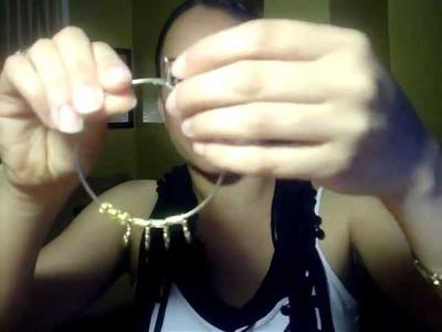 Make your own hoop earrings :)