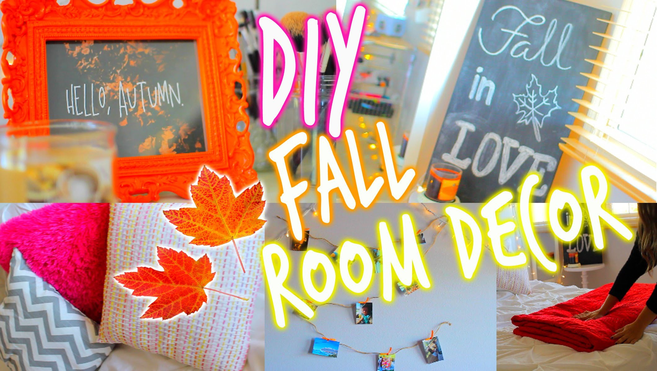 Makeover Your Room For Fall + DIY Room Decorations!