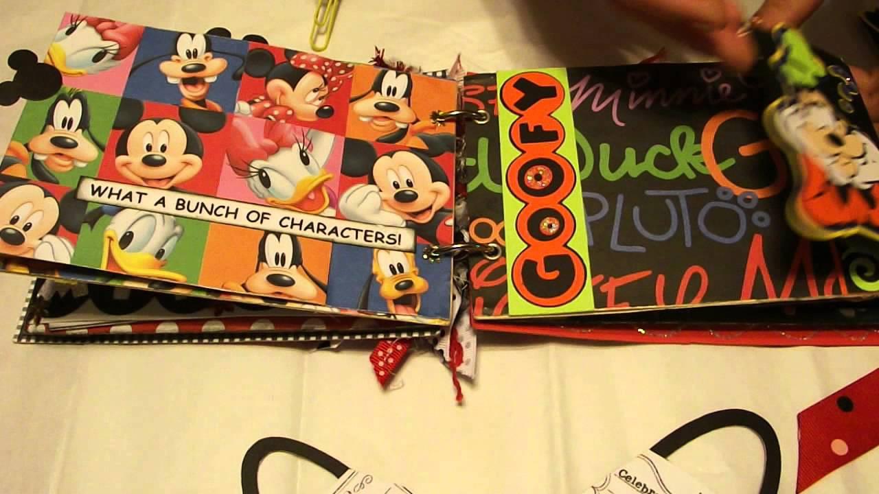 Mickey Minnie Mouse Disney World Magical Moments File Folder Mini