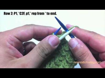 New Stitch A Day: How to Knit The Wavy Rib Stitch